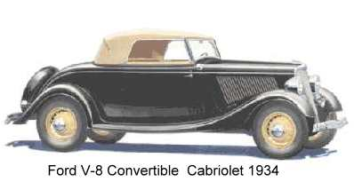 Ford 1934 Kabrio - convertible